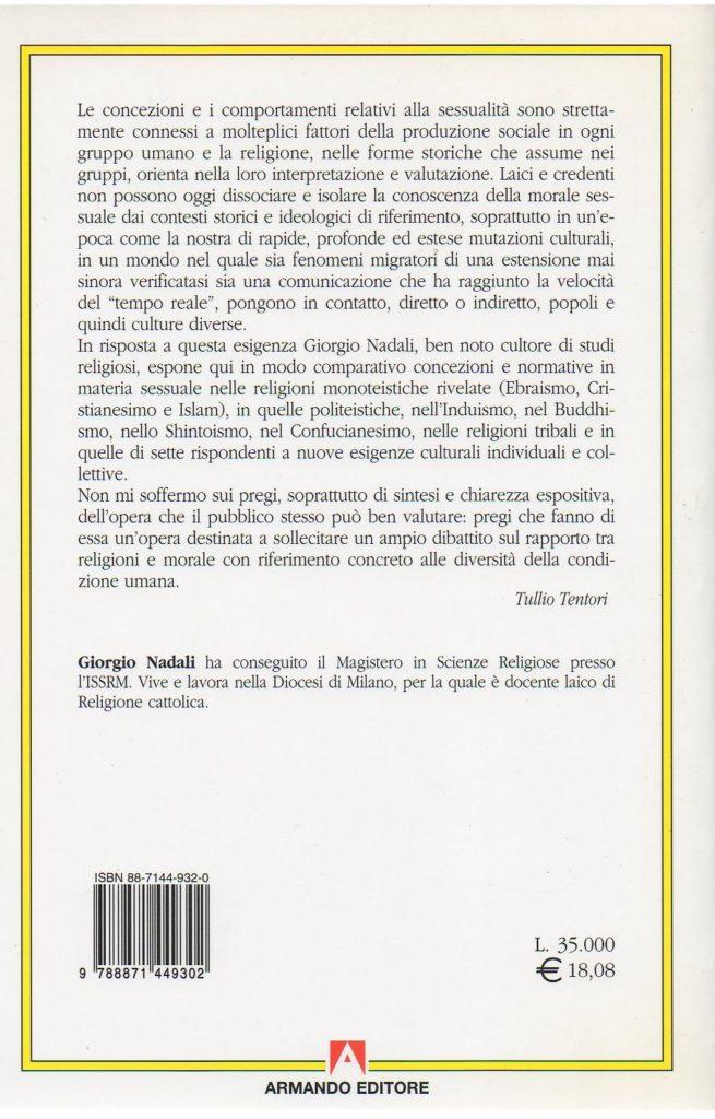 Giorgio Nadali: Sessualita-religione-sette quarta