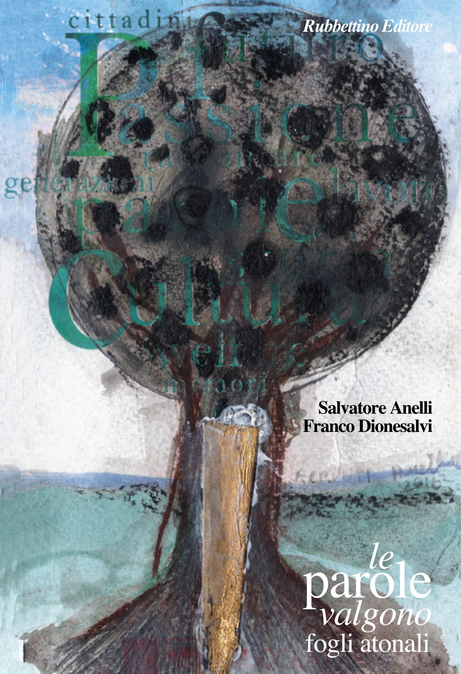 """Copertina del libro """"Le parole valgono- fogli atonali"""" diSalvatore Anelli e Franco Dionesalvi"""