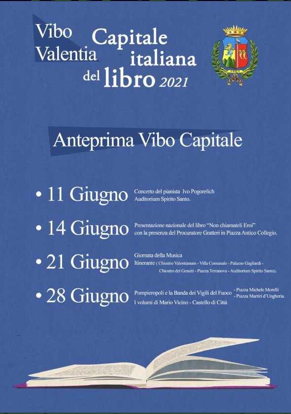 Calendario Vibo Valentia Capitale del Libro 2021